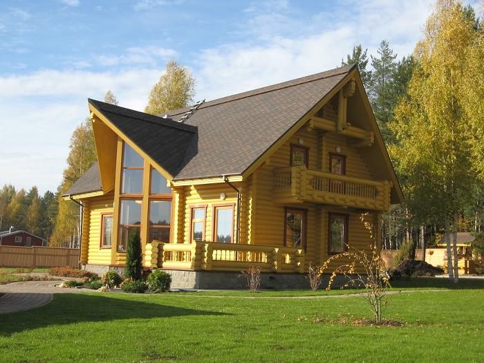Деревянный дом из бруса портфолио 1
