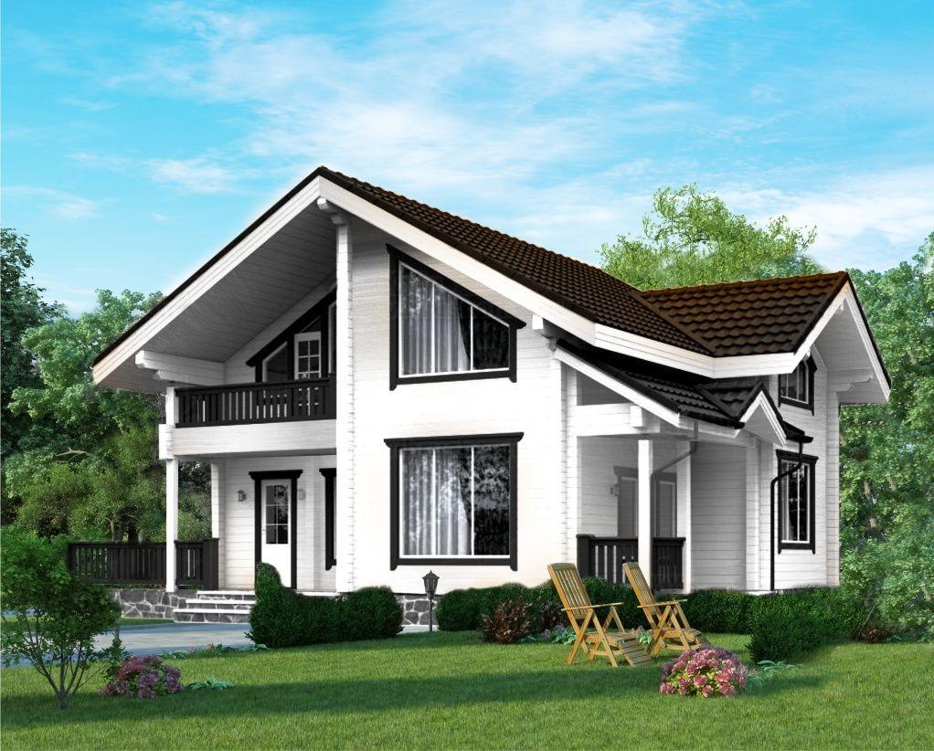 Проект деревянного дома 1-1